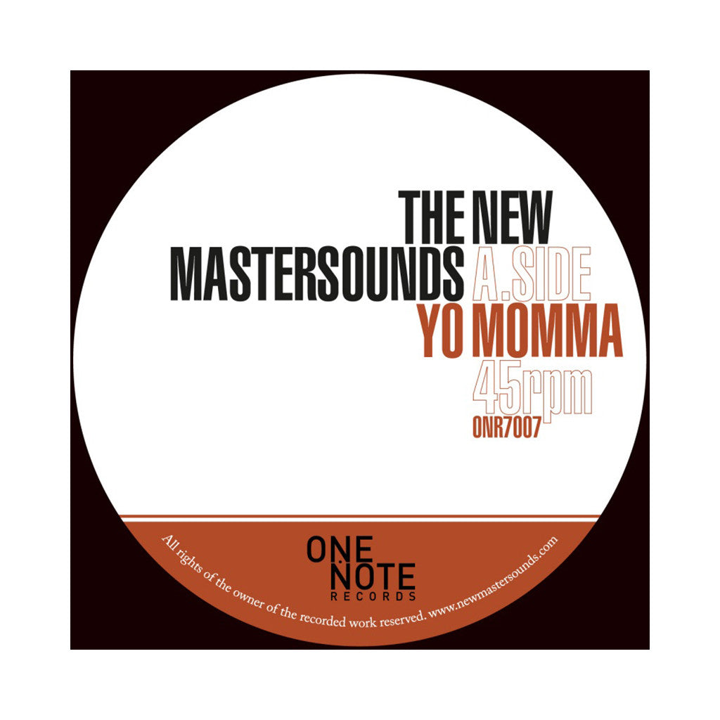 "<!--020120522000760-->The New Mastersounds - 'Yo Momma/ You Mess Me Up' [(Black) 7"" Vinyl Single]"