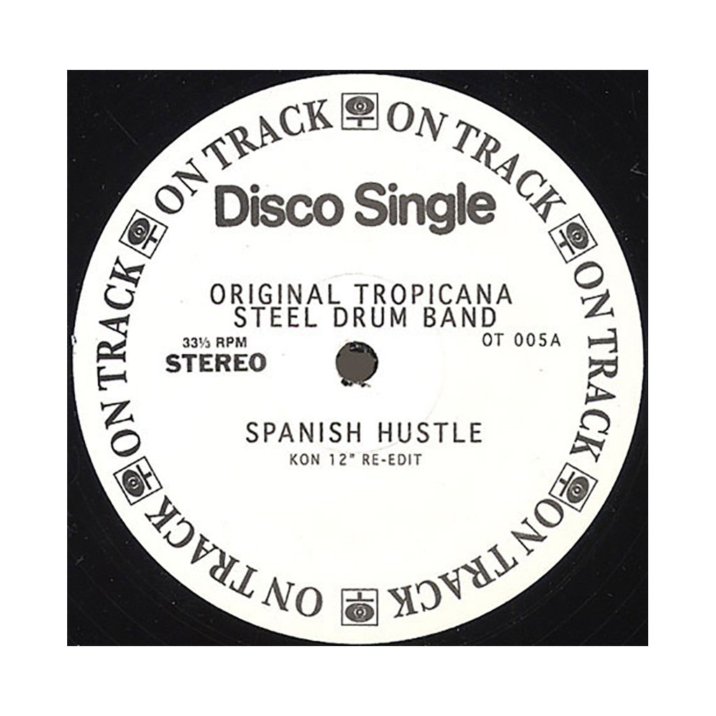 "Original Tropicana Steel Drum Band b/w Fatback Band (Kon & Amir Present) - 'Spanish Hustle (Kon Re-Edit)/ Spanish Hustle' [(Black) 12"" Vinyl Single]"