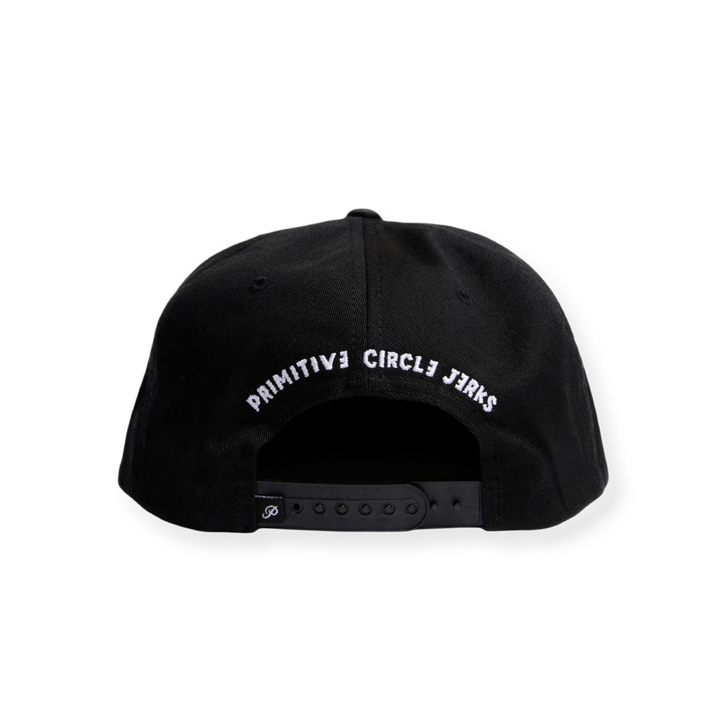 <!--020131212061468-->Primitive x Circle Jerks - 'Jerk' [(Black) Snap Back Hat]