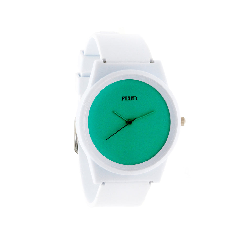 <!--020120619046322-->FLuD Watches - 'Pantone - Teal/ White' [(White) Watch]