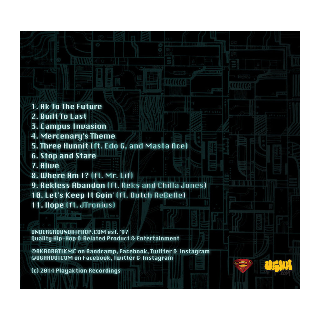 Akrobatik - 'Built To Last' [CD]