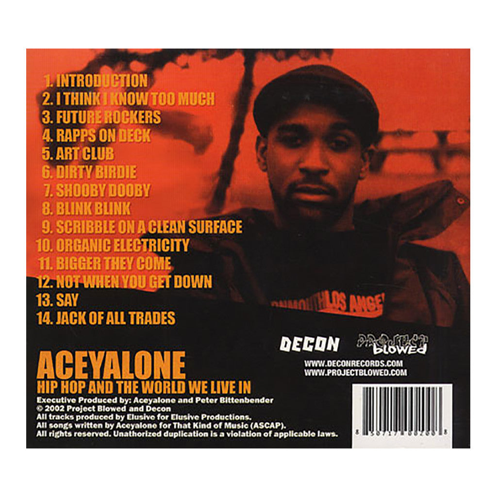 <!--020100413004868-->Aceyalone - 'Hip Hop And The World We Live In' [CD]
