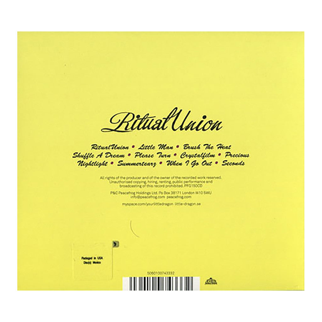 <!--120150710032313-->Little Dragon - 'Ritual Union' [CD]
