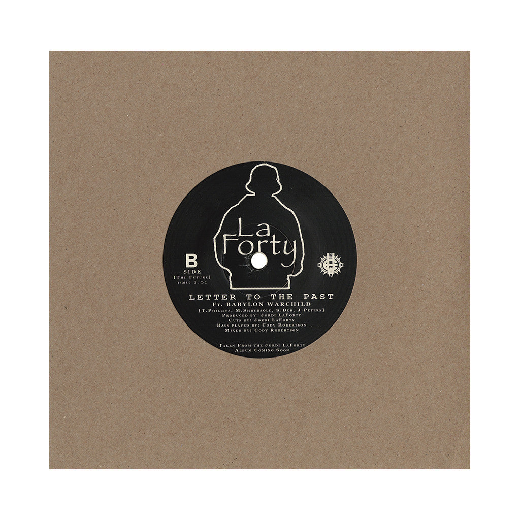 "Babylon Warchild & DJ Jordi LaForty - 'Call Of The Warchild/ Letter To The Past' [(Black) 7"" Vinyl Single]"