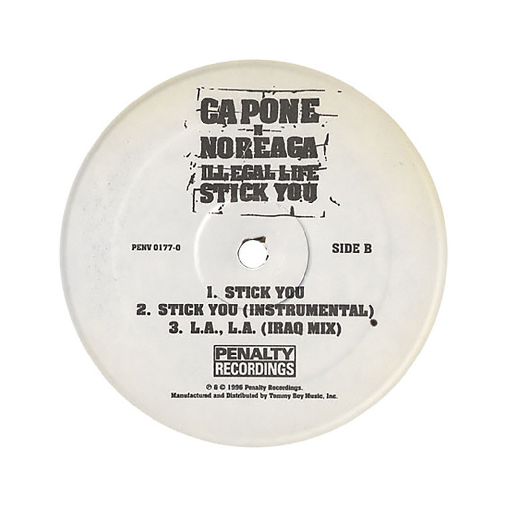 "<!--019960101005884-->Capone -N- Noreaga - 'Illegal Life/ L.A., L.A. (Kuwait Mix)/ Stick You/ L.A., L.A. (Iraq Mix)' [(Black) 12"""" Vinyl Single]"