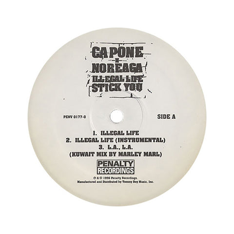 "Capone -N- Noreaga - 'Illegal Life/ L.A., L.A. (Kuwait Mix)/ Stick You/ L.A., L.A. (Iraq Mix)' [(Black) 12"""" Vinyl Single]"