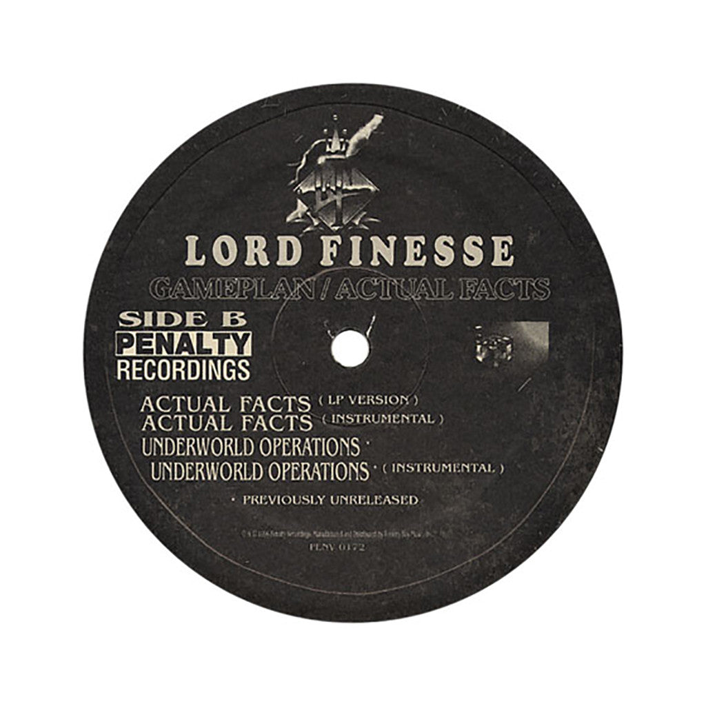 "<!--019960101005861-->Lord Finesse - 'Game Plan/ Soul Plan/ Actual Facts/ Underworld Operations' [(Black) 12"" Vinyl Single]"