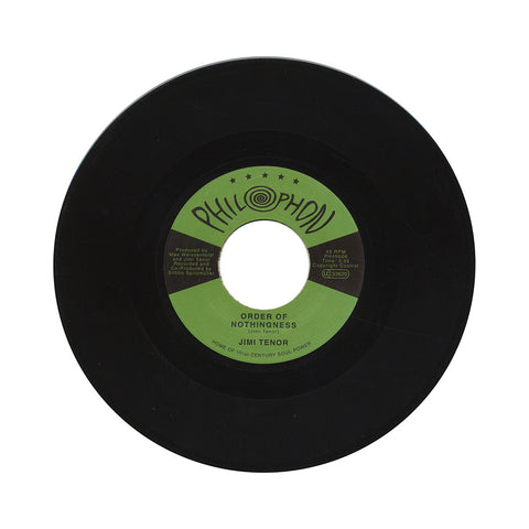 "Jimi Tenor - 'Order Of Nothingness/ Tropical Eel' [(Black) 7"" Vinyl Single]"