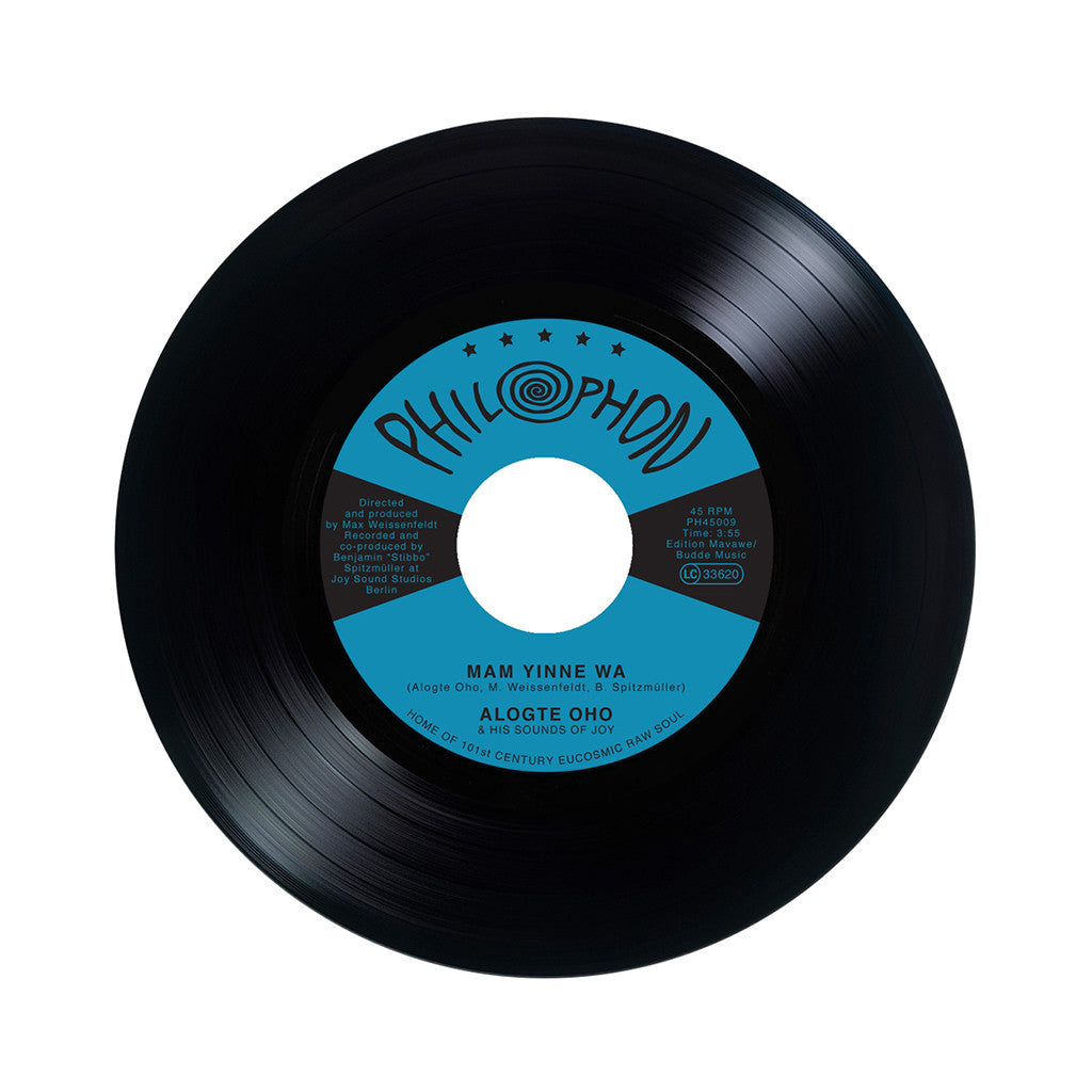 "Alogte Oho & His Sounds Of Joy - 'Mam Yinne Wa/ Yu Ya Yumma' [(Black) 7"" Vinyl Single]"
