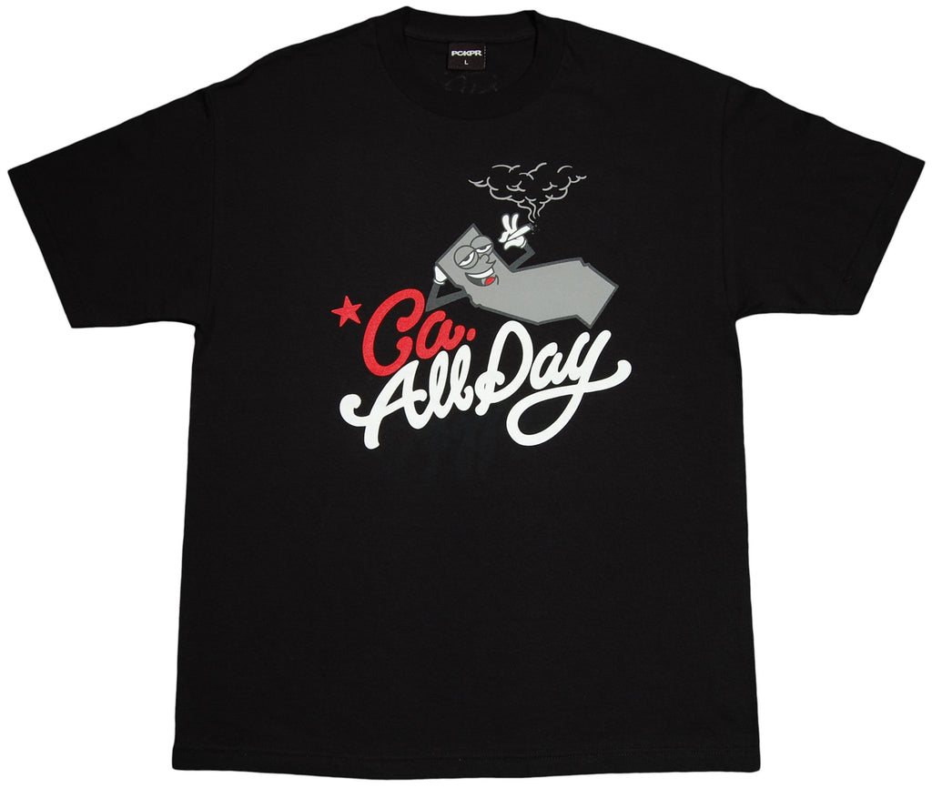 PCKPR - 'CA All Day' [(Black) T-Shirt]