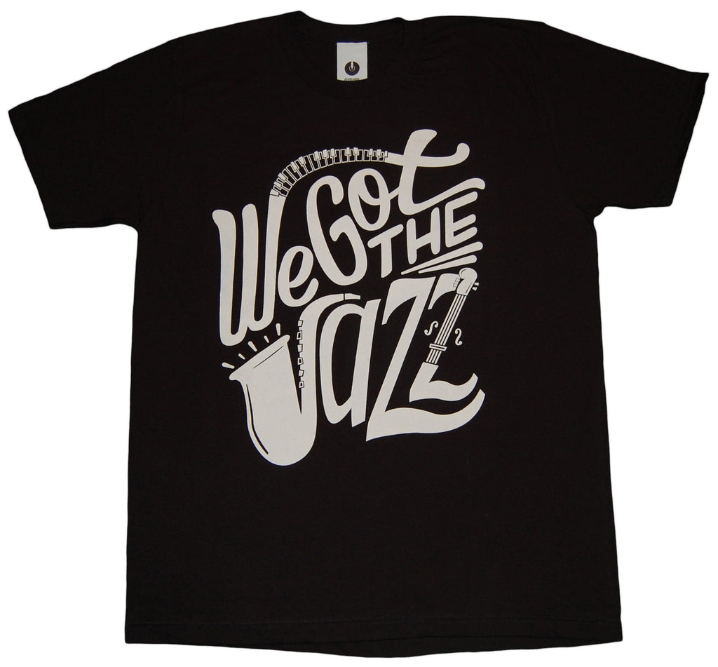 <!--2013012914-->Plug Label - 'We Got The Jazz' [(Black) T-Shirt]