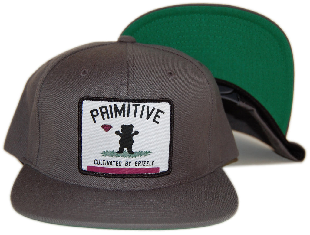 <!--020120925049339-->Primitive x Grizzly x Diamond Supply Co. - 'Cultivated By Grizzly' [(Dark Gray) Snap Back Hat]