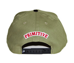 <!--020131022060540-->Primitive - 'Dirty P - Khaki/ Red' [(Light Brown) Snap Back Hat]