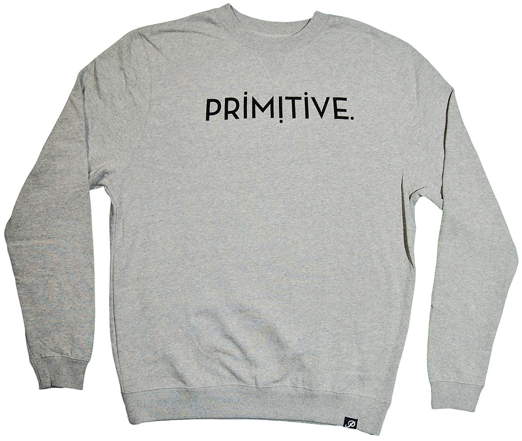 <!--2013102207-->Primitive - 'Ender Custom' [(Gray) Crewneck Sweatshirt]