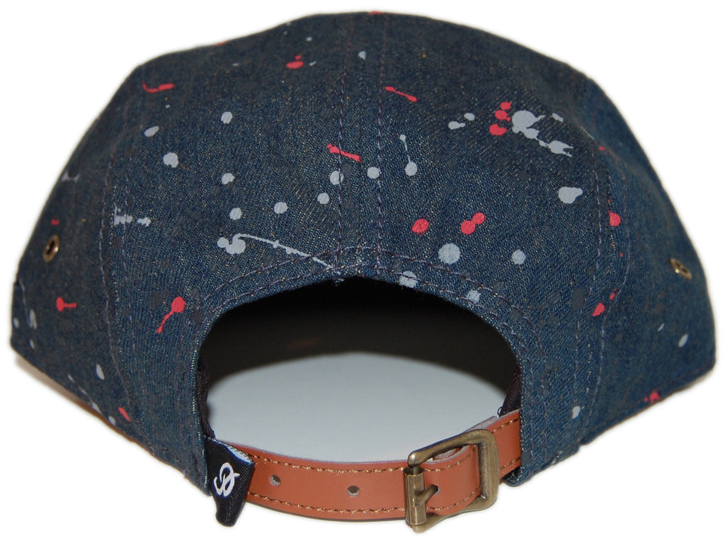 <!--020130820059075-->Primitive - 'Paint Splatter' [(Dark Blue) Five Panel Camper Hat]