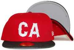 <!--2012011013-->Primitive - 'CA' [(Red) Fitted Hat]