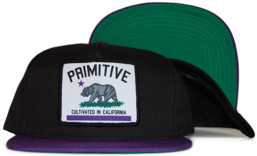 <!--020120110039895-->Primitive - 'Cultivated' [(Black) Snap Back Hat]