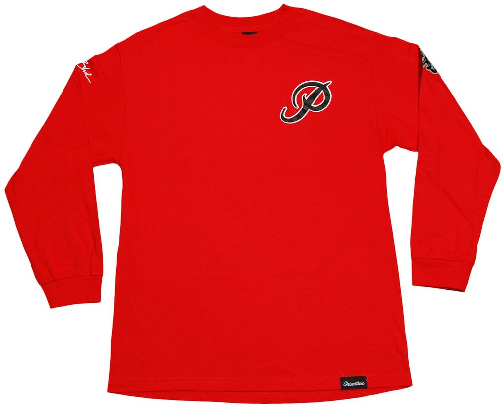 <!--2012011006-->Primitive - 'Loyal' [(Red) Long Sleeve Shirt]
