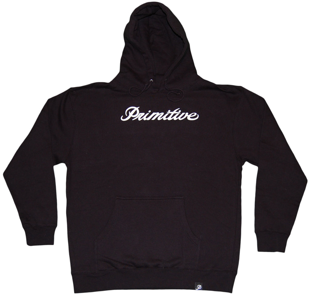 <!--2012011011-->Primitive - 'Signature Script' [(Black) Hooded Sweatshirt]