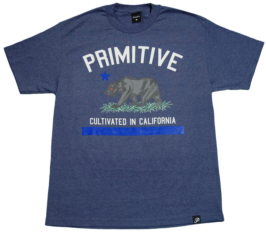 <!--2013031221-->Primitive - 'Cultivated - Denim Heather' [(Dark Blue) T-Shirt]