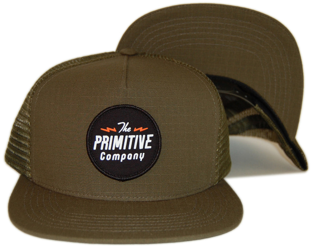 <!--020130312054576-->Primitive - 'Electric' [(Dark Green) Snap Back Hat]