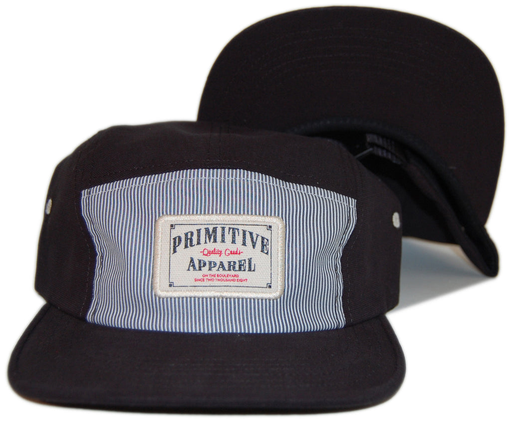 Primitive - 'Quality Goods' [(Black) Five Panel Camper Hat]