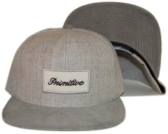 <!--020130312054575-->Primitive - 'Signature Script' [(Gray) Snap Back Hat]