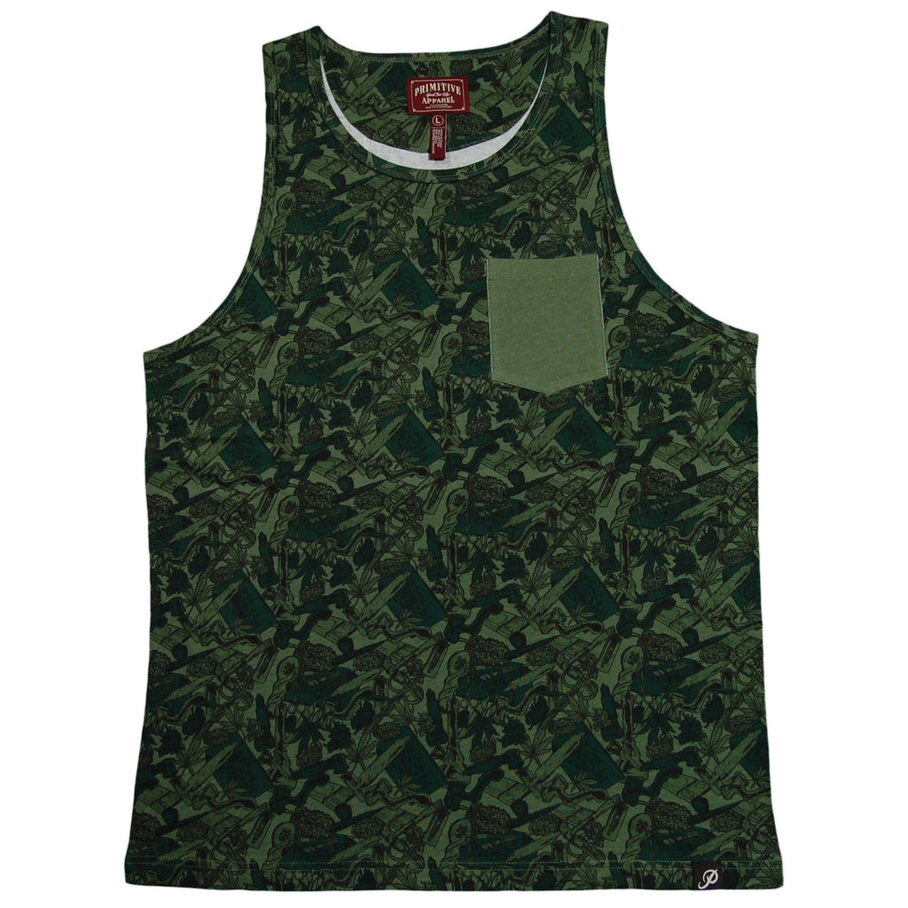 <!--2013070244-->Primitive - 'Smokers Only Pocket' [(Camo Pattern) Tank Top]