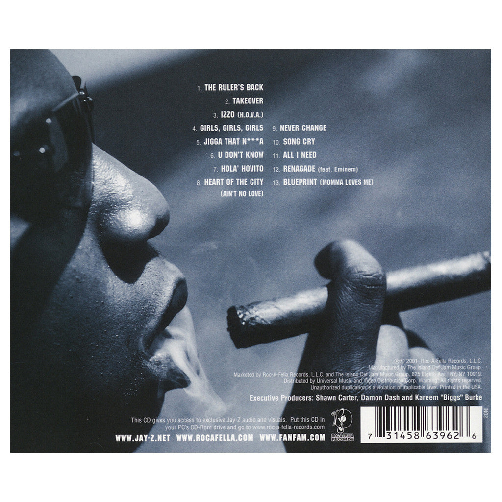 Jay z the blueprint cd cover art producers buy jay z the blueprint malvernweather Choice Image