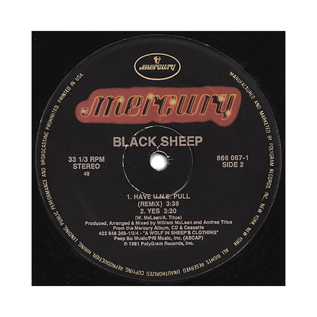 "<!--019910101012521-->Black Sheep - 'The Choice Is Yours (Remix)/ The Choice Is Yours/ Have U.N.E. Pull (Rmx)/ Yes' [(Black) 12"" Vinyl Single]"