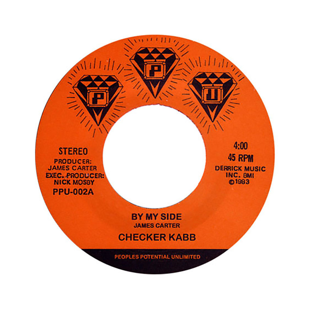 "Checker Kabb b/w Satellite Band - 'By My Side b/w Rejuvenate The Fonk' [(Black) 7"" Vinyl Single]"