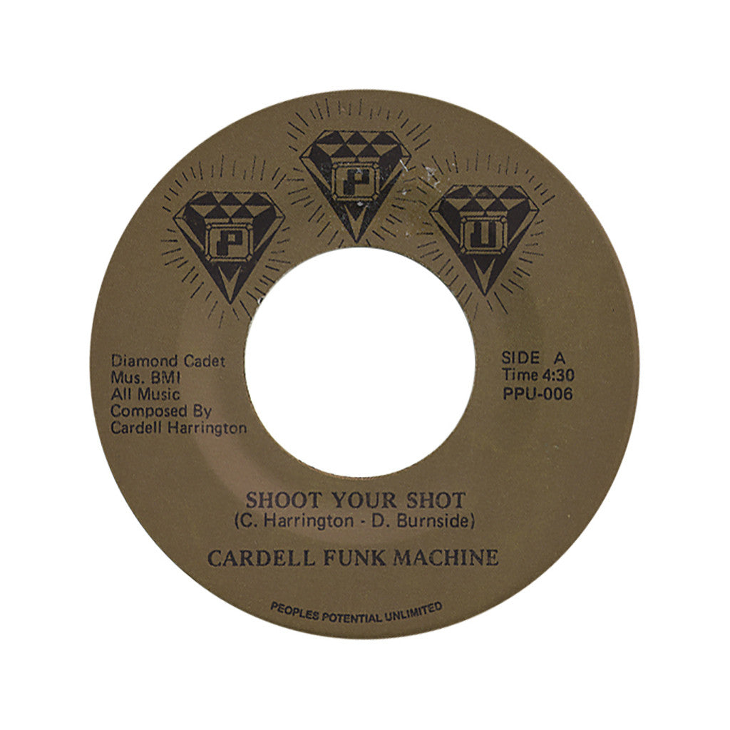 "<!--020090201004266-->Cardell Funk Machine - 'Shoot Your Shot/ It's All Over' [(Black) 7"""" Vinyl Single]"