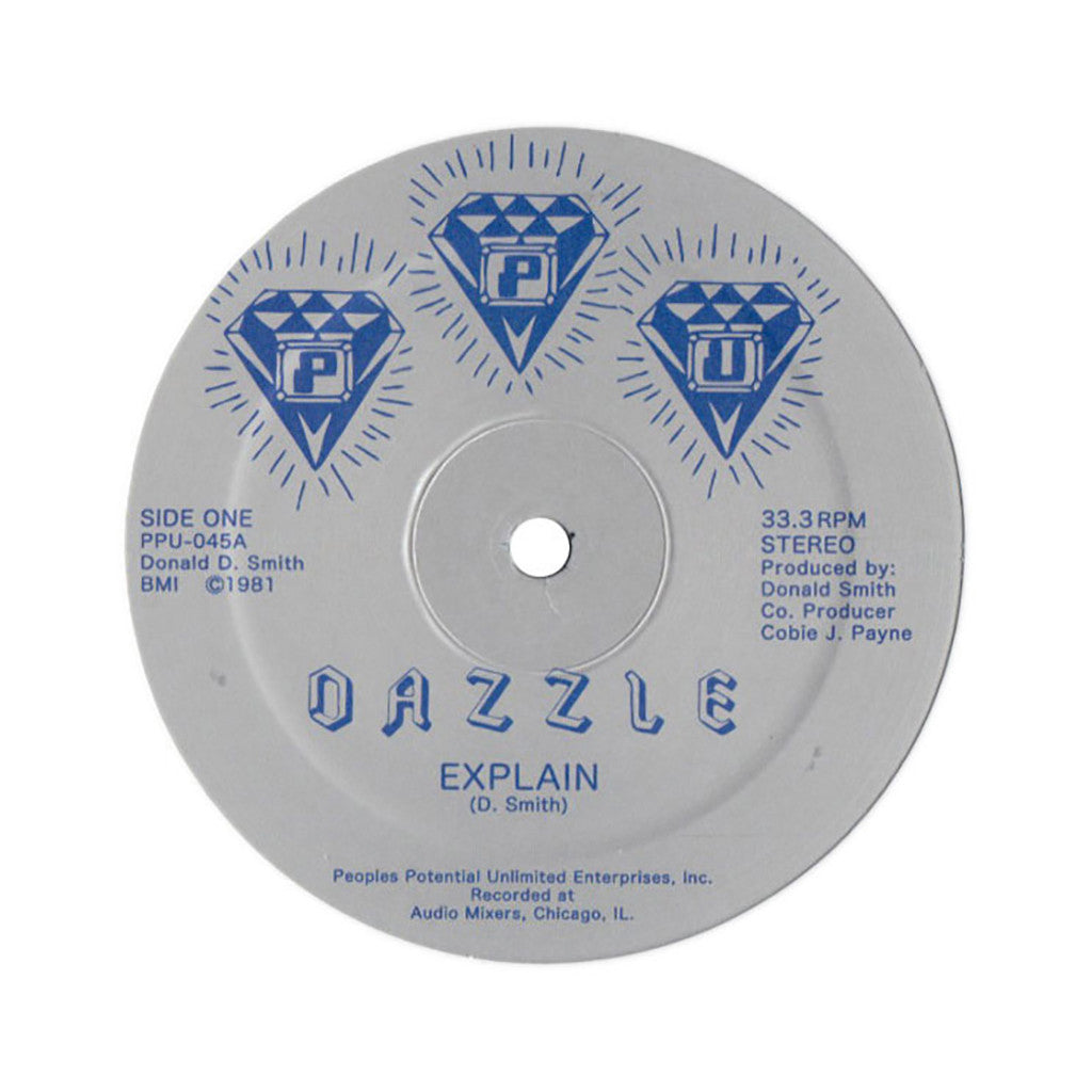 "<!--020130305054421-->Dazzle - 'Explain/ In The Disco/ Play It' [(Black) 12"" Vinyl Single]"