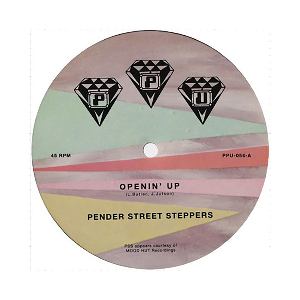 "<!--020140304062344-->Pender Street Steppers - 'Openin Up/ M Flight' [(Black) 12"""" Vinyl Single]"