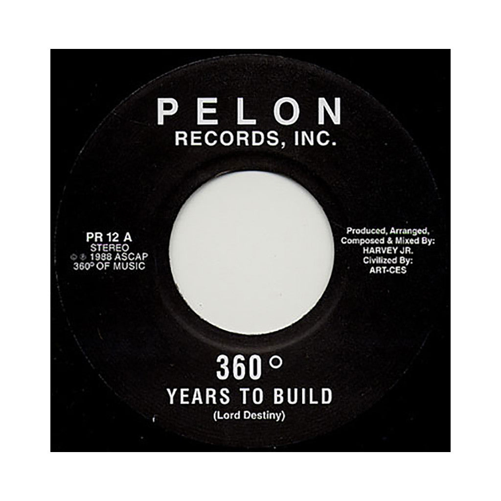 "<!--2009022434-->360 - 'Years To Build/ Pelon' [(Black) 7"" Vinyl Single]"