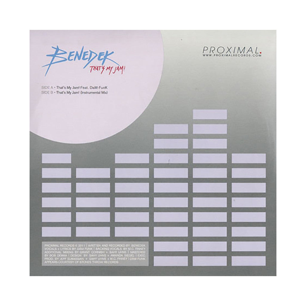 "<!--020110913034870-->Benedek - 'That's My Jam!' [(Black) 7"""" Vinyl Single]"