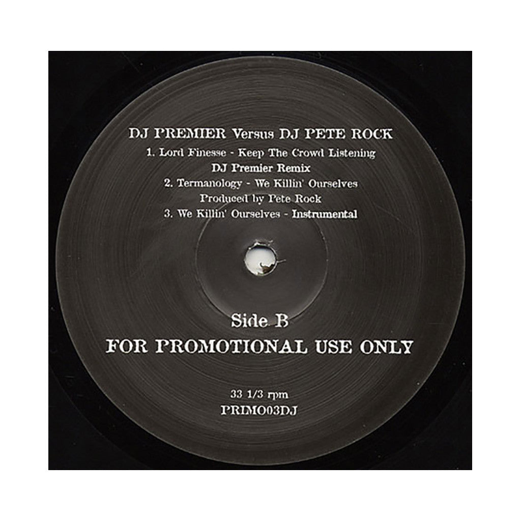 DJ Premier vs. DJ Pete Rock - 'DJ Premier vs. DJ Pete Rock EP' [(Black) Vinyl EP]