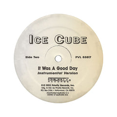 "<!--019920101012126-->Ice Cube - 'It Was A Good Day' [(Black) 12"" Vinyl Single]"
