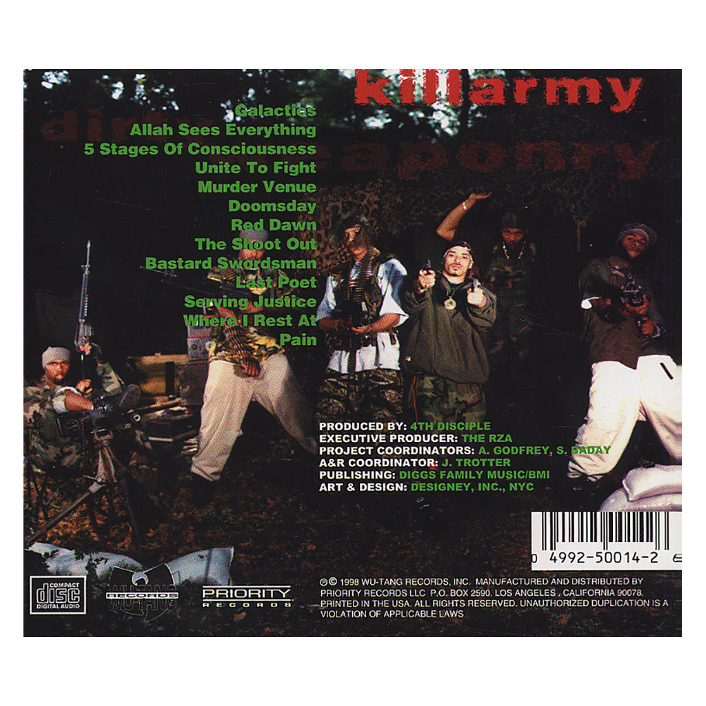 <!--019980811002655-->Killarmy - 'Dirty Weaponry' [CD]