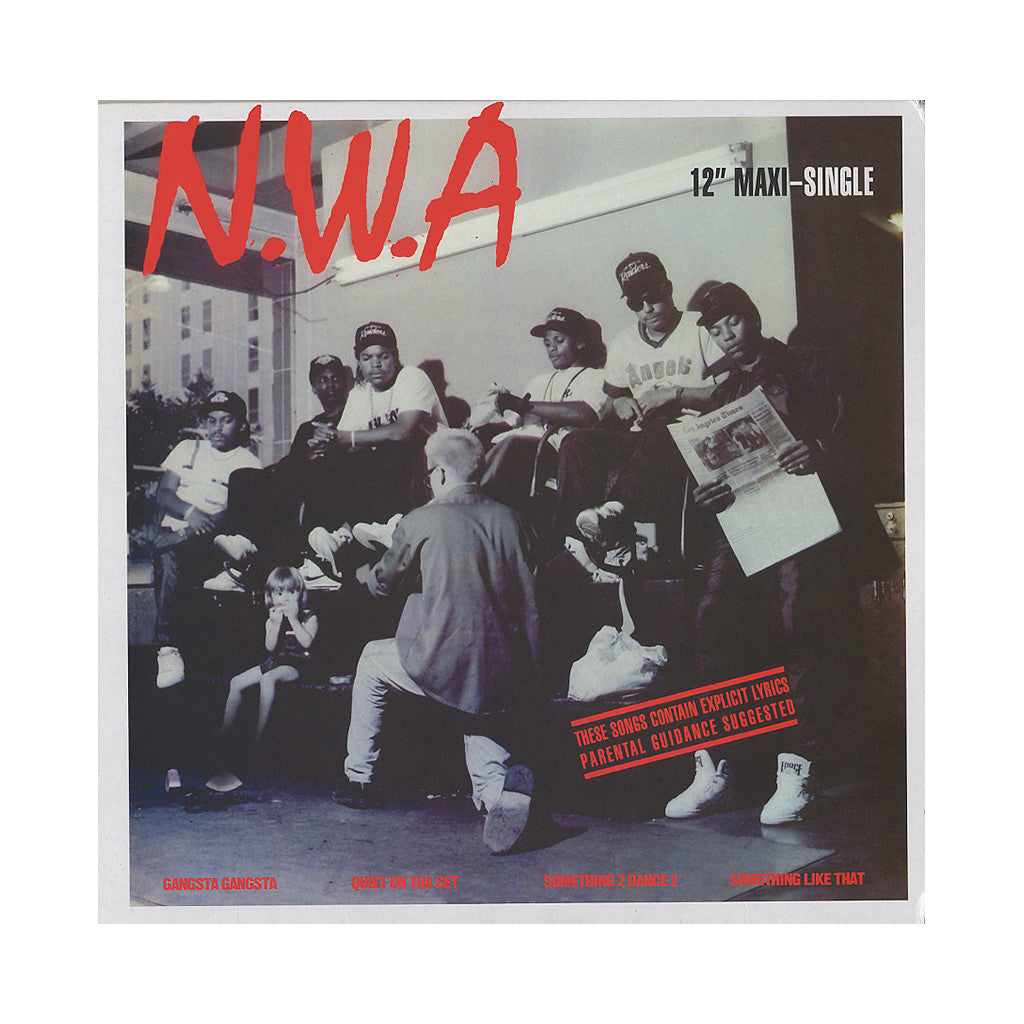 "N.W.A. - 'Gangsta Gangsta/ Something Like That/ Quiet On Tha Set/ Something 2 Dance 2' [(Black) 12"" Vinyl Single]"