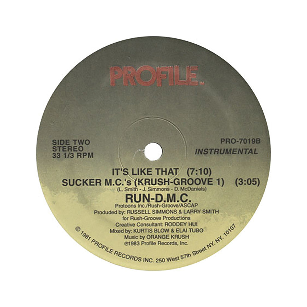 "<!--1983010122-->Run D.M.C. - 'It's Like That/ Sucker M.C.'s' [(Black) 12"" Vinyl Single]"