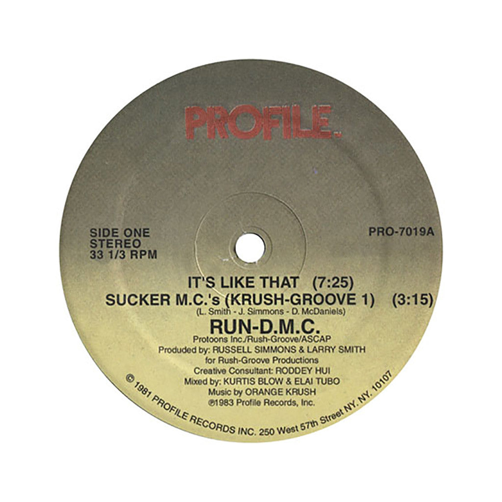 "Run D.M.C. - 'It's Like That/ Sucker M.C.'s' [(Black) 12"" Vinyl Single]"
