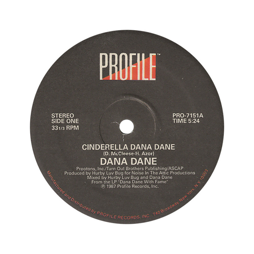 "Dana Dane - 'Cinderella Dana Dane' [(Black) 12"" Vinyl Single]"