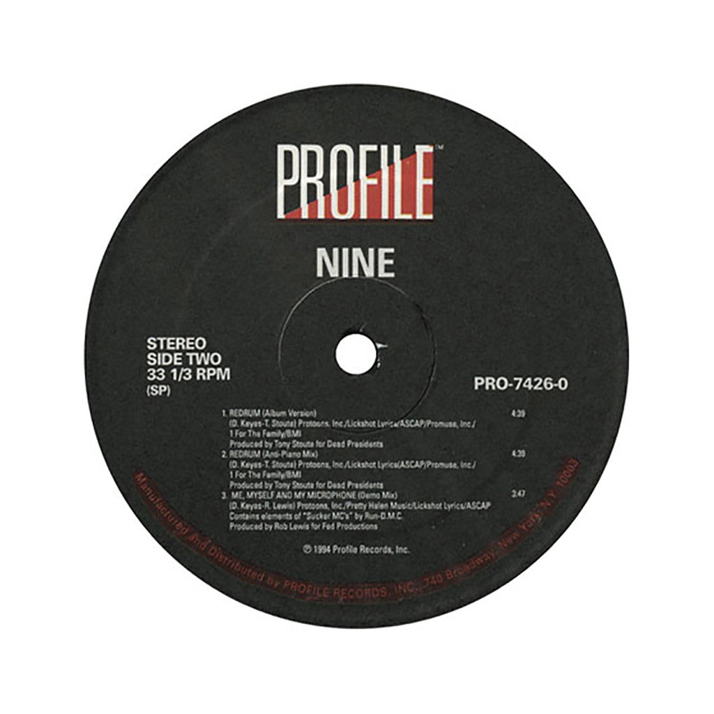 "<!--019940101007220-->Nine - 'Whutcha Want?/ Redrum/ Me, Myself And My Microphone' [(Black) 12"" Vinyl Single]"