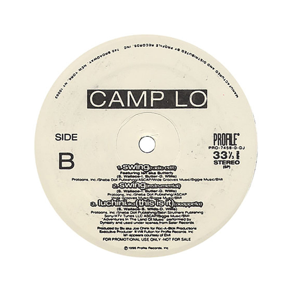 "<!--019960101012483-->Camp Lo - 'Luchini (aka This Is It)/ Swing' [(Black) 12"" Vinyl Single]"