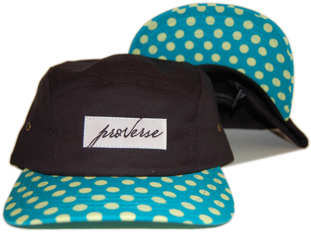 <!--020121030050822-->Proverse - 'Kwame' [(Black) Five Panel Camper Hat]