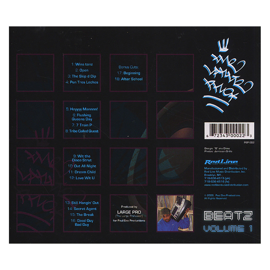 <!--020060627007246-->Large Professor - 'Beatz Vol. 1' [CD]
