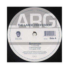 "<!--020090707017135-->Large Professor - 'Amaman/ Bowne' [(Black) 12"" Vinyl Single]"