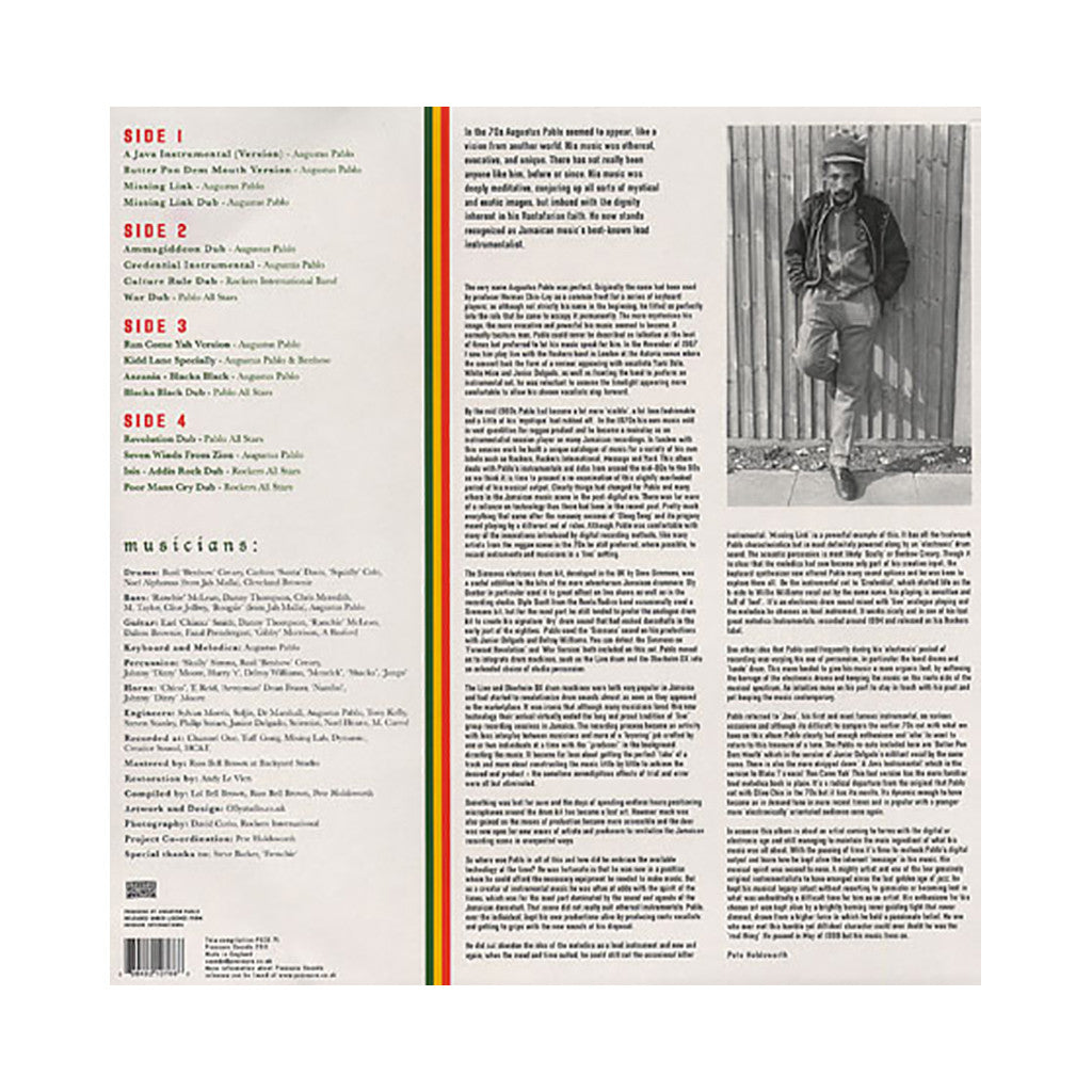 <!--020110712032535-->Augustus Pablo - 'Message Music: Augustus Pablo's Digital Productions 1986-1994) (Pressure Sounds 71)' [(Black) Vinyl [2LP]]
