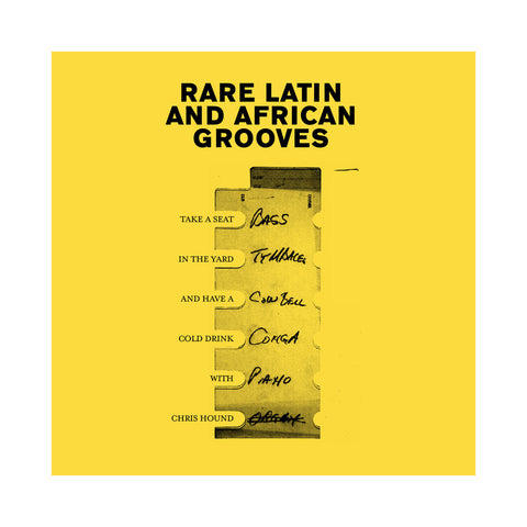 "[""Chris Hound - 'Rare Latin And African Grooves (THIS IS A RE-STOCK)' [Cassette Tape]""]"